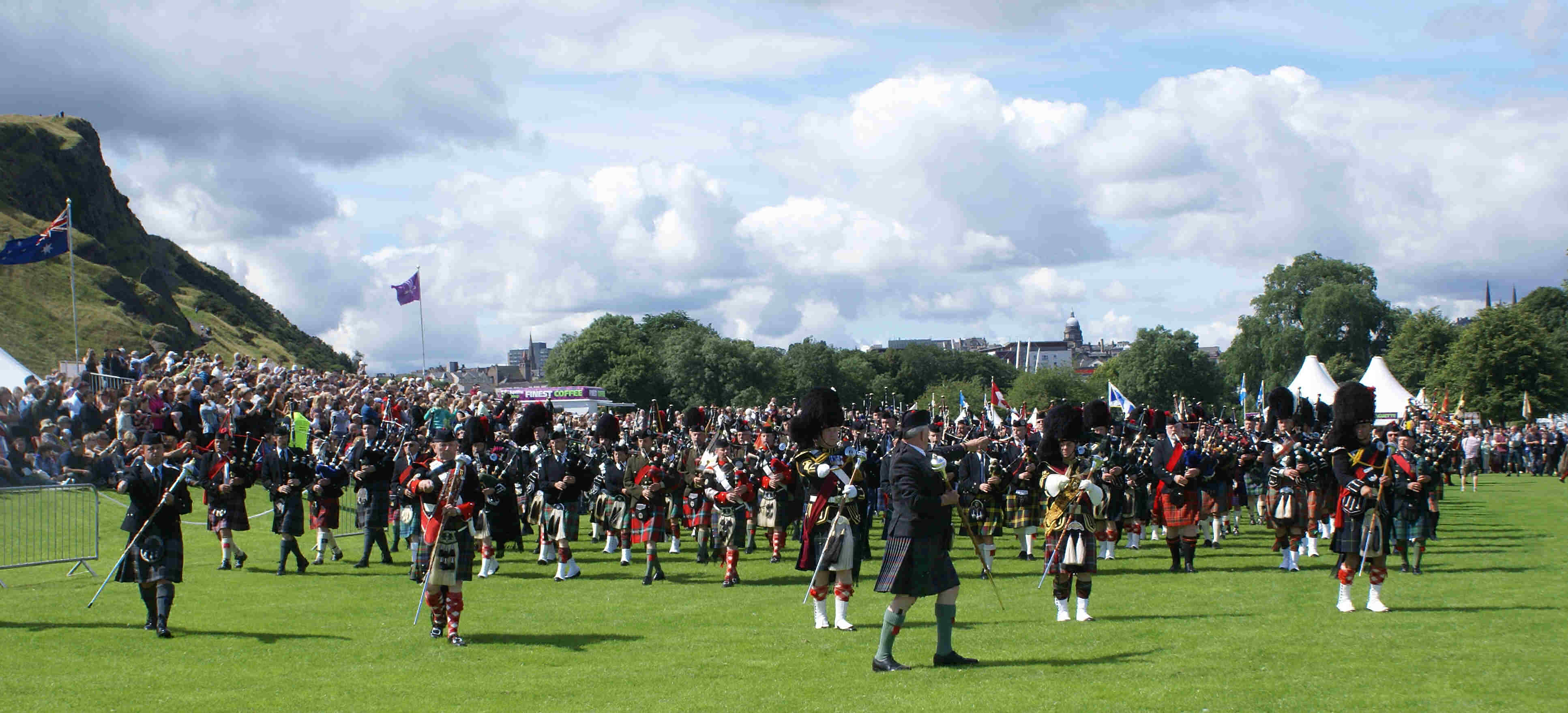 Photograph of Opening parade The Gathering 2009