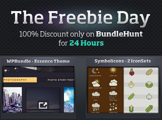 For 24 hours, Download a FREE theme from WPBundle.com and 2 Iconsets from Symbolicons.com Get yours today!